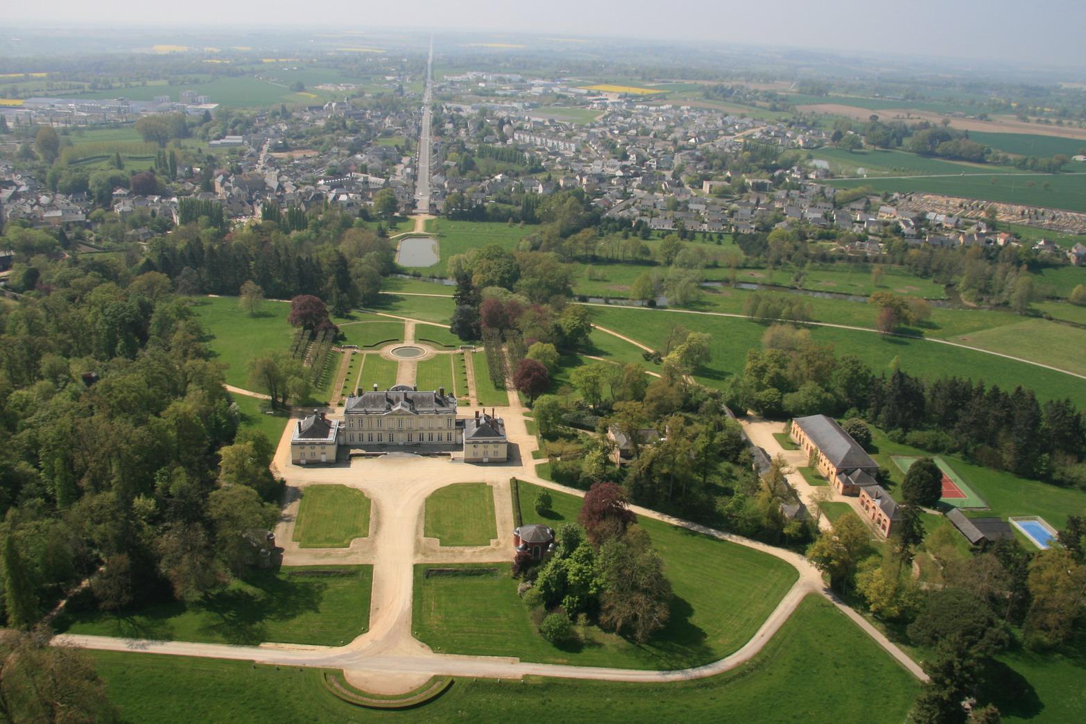 le château et ses jardins en image